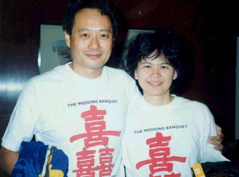 李安(左)「喜宴」獲金熊獎。報系資料庫