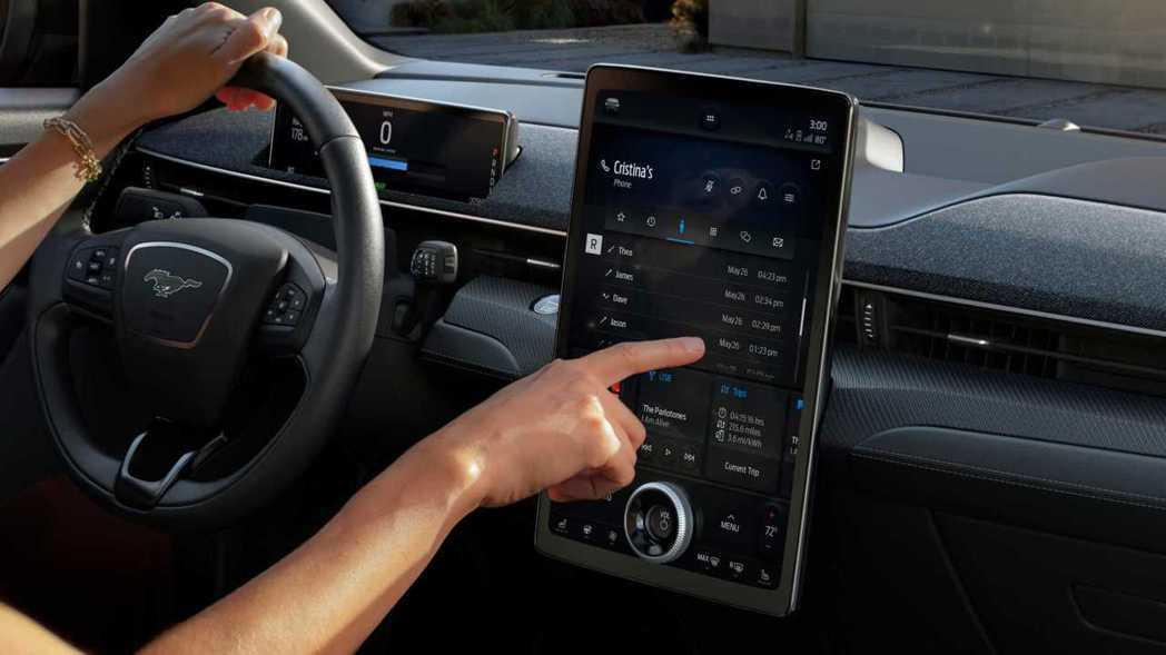 15.5吋的觸控螢幕,並配備最新的Sync系統。 摘自Ford