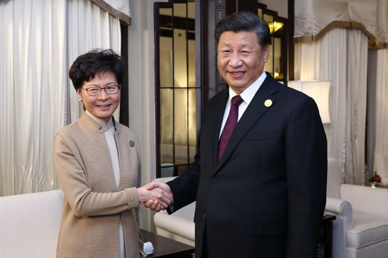 近日習近平與林鄭月娥見面,表示對林鄭「高度信任」並「充分肯定」。 圖/新華社