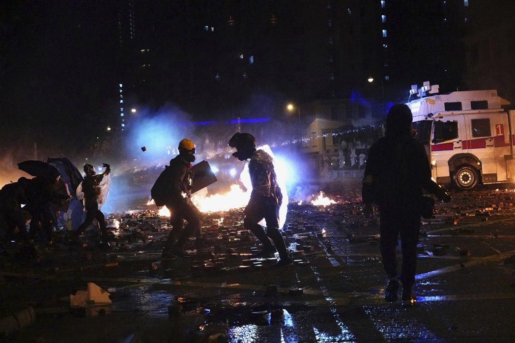 攝於11月17日,香港理工大學。 圖/美聯社