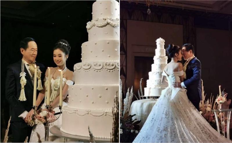 泰國咖啡公司70歲總裁,近日舉辦人生首次婚禮,迎娶小他50歲的新娘,彩禮更是高達1985萬台幣。圖擷自臉書