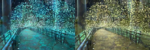變色光廊。 圖/2019新北耶誕城官網