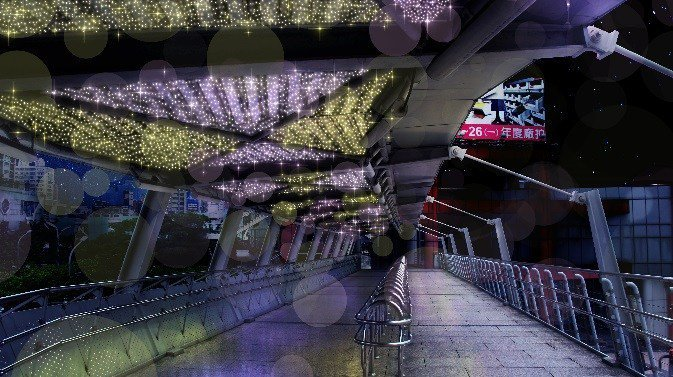 紫金光廊。 圖/2019新北耶誕城官網
