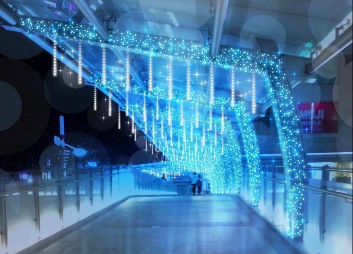 冰柱光廊。 圖/2019新北耶誕城官網
