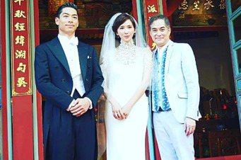 林健寰(右)是引林志玲入行的恩人,過去也是大明星。 圖/林健寰提供