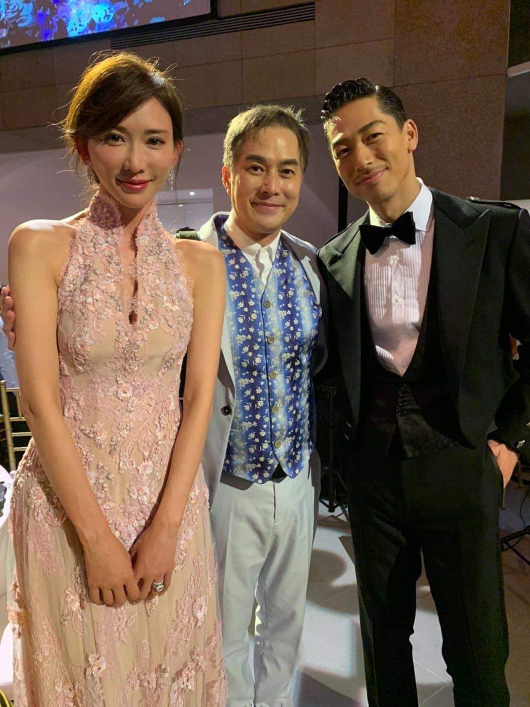 林健寰(中)是引林志玲入行的恩人,過去也是大明星。 圖/林健寰提供