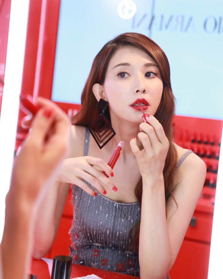 林志玲是Giorgio Armani的彩妝大使。圖/摘自林志玲IG