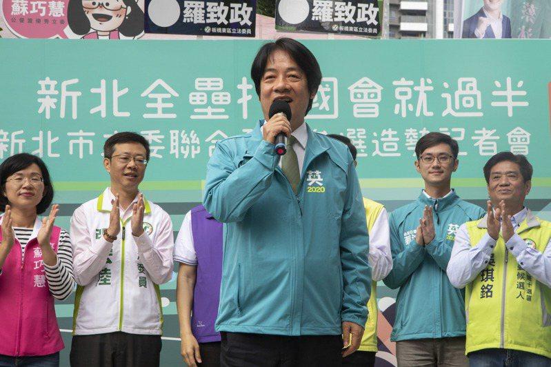 民進黨副總統參選人賴清德面對國民黨總統韓國瑜質疑台獨立場時,僅表示「他不懂我們的心」。記者王敏旭/攝影