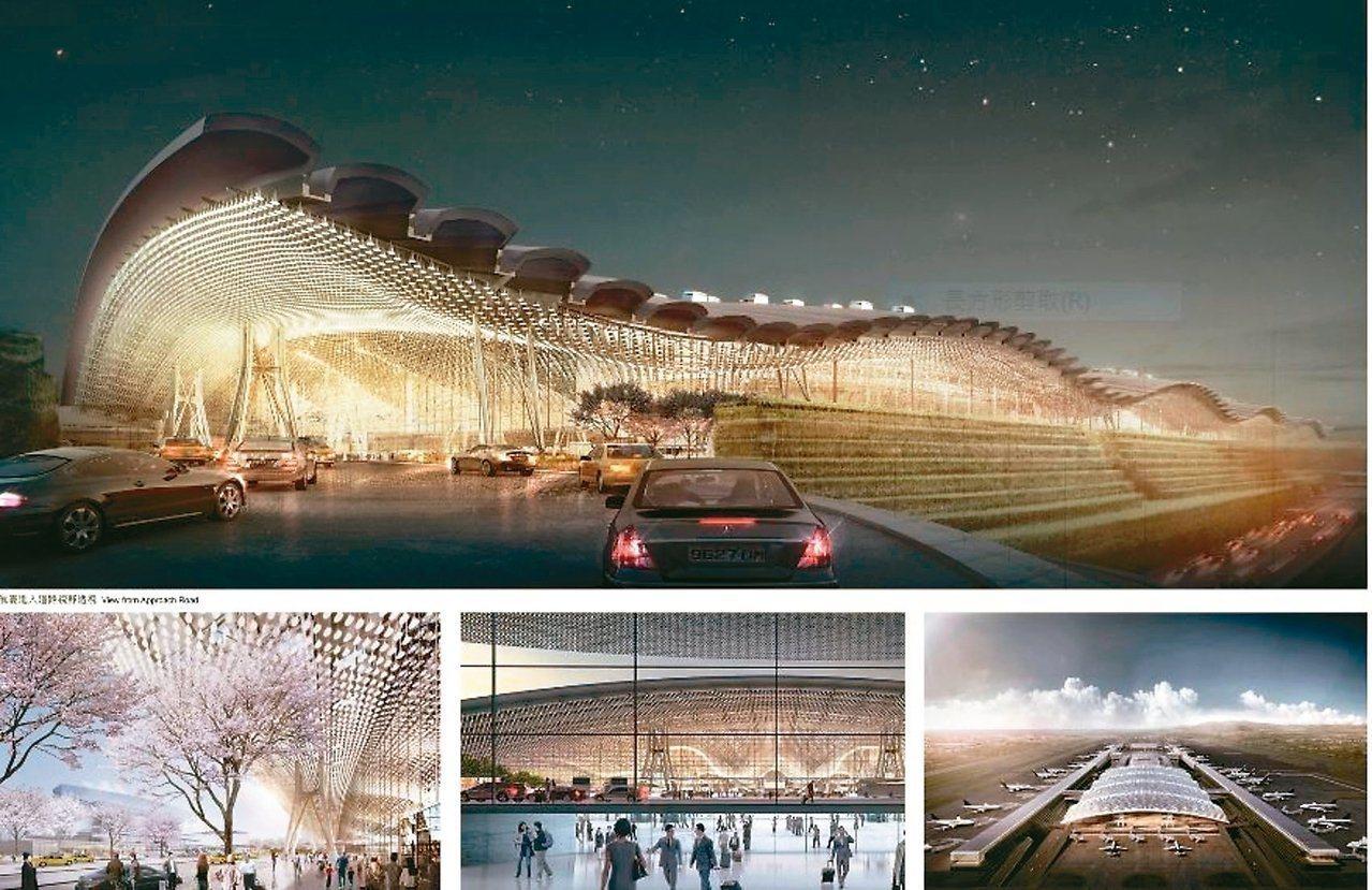 桃園國際機場第三航廈主體工程三度流標,交通部認定造型雖亮眼卻太繁複,且預算難支應...