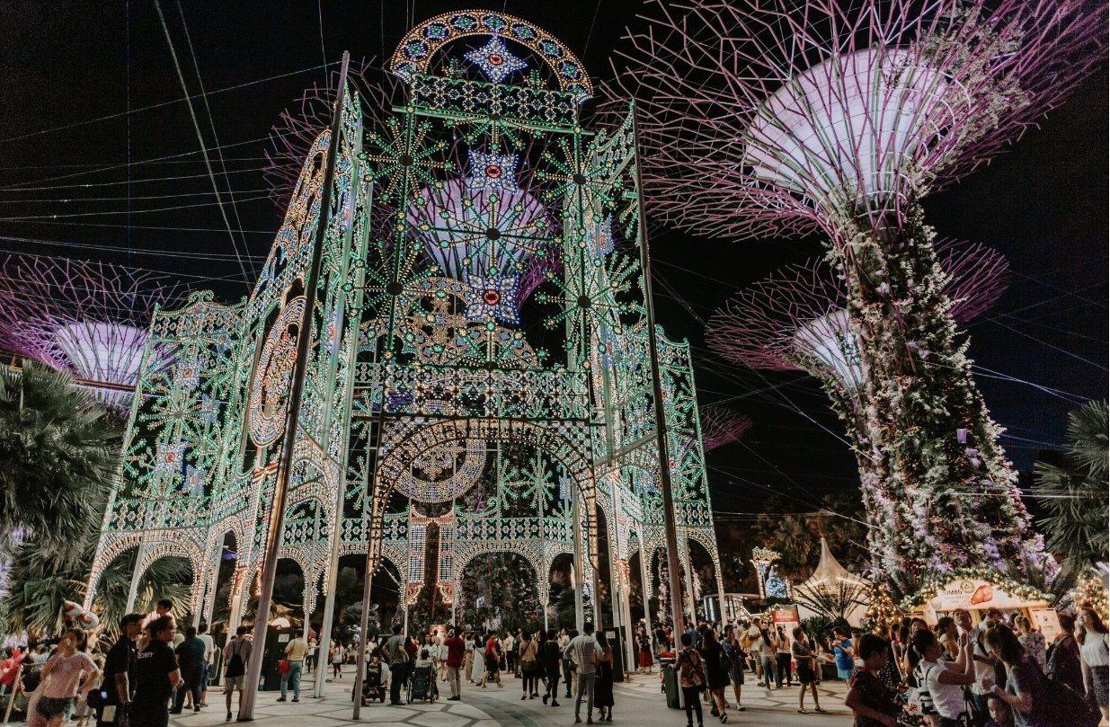 濱海灣花園「聖誕仙境」。圖/新加坡旅遊局提供