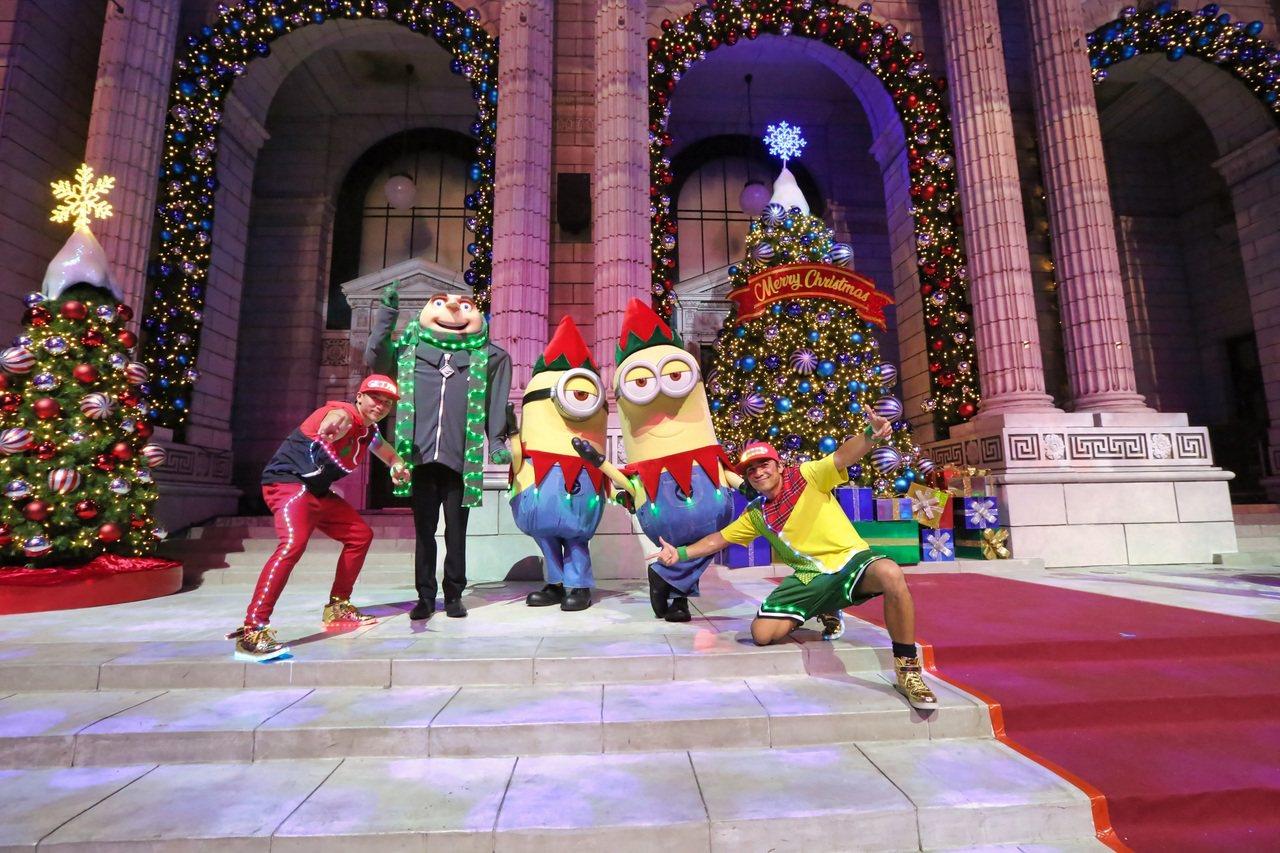 新加坡環球影城「環球聖誕樂」。圖/聖淘沙名勝世界提供