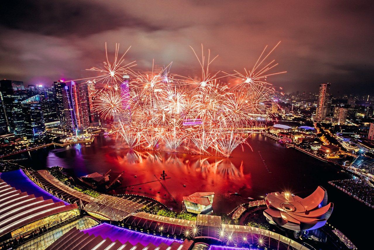 新加坡濱海灣跨年倒數活動。圖/新加坡旅遊局提供