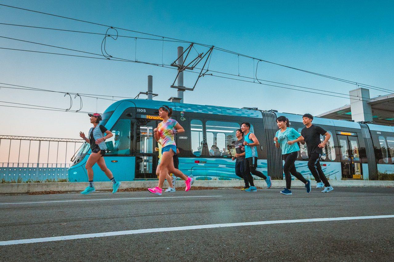 新北市府將於2019年最後一周在淡海輕軌崁頂站(V11)舉辦嘻哈路跑,路跑結束後...
