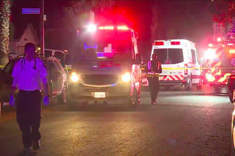 美國加州弗雷斯諾(Fresno)17日晚間發生槍擊案,至少9人中槍。取自FOX2...