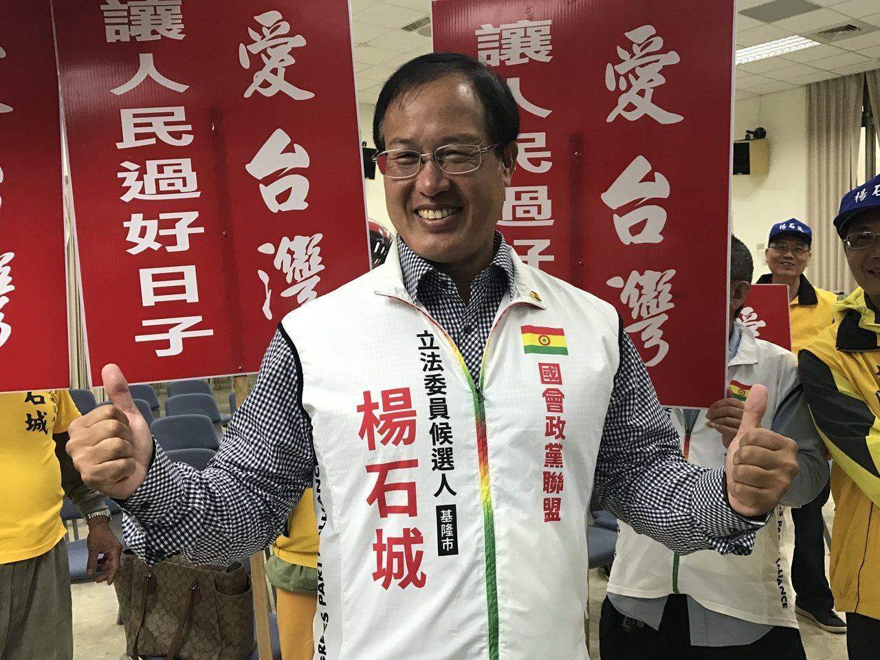 楊石城捲土重來選立委,他說,是要完成為百姓努力打拚的願望。記者吳淑君/攝影