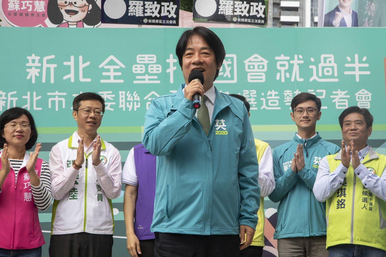 民進黨副總統參選人賴清德面對國民黨總統韓國瑜質疑台獨立場時,僅表示「他不懂我們的...
