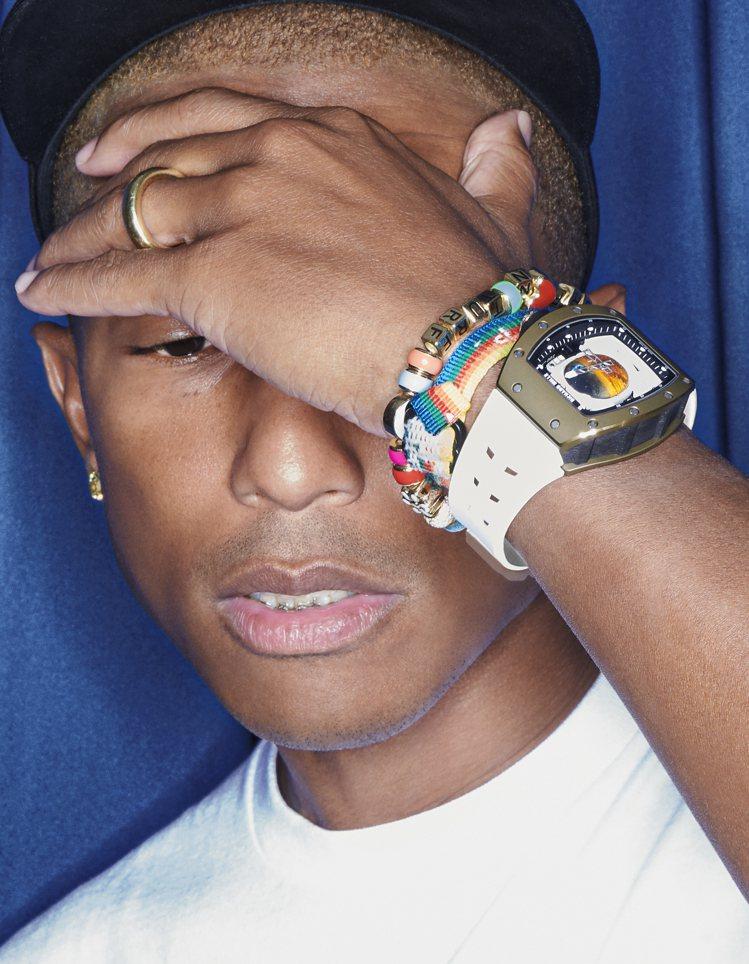 Pharrell Williams詮釋與RICHARD MILLE聯名的RM 5...