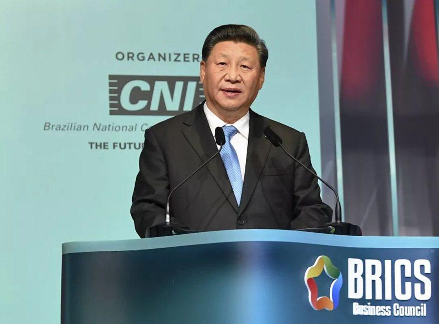 大陸國家主席習近平上周於巴西出席金磚國家領導人會晤。照片/新華網