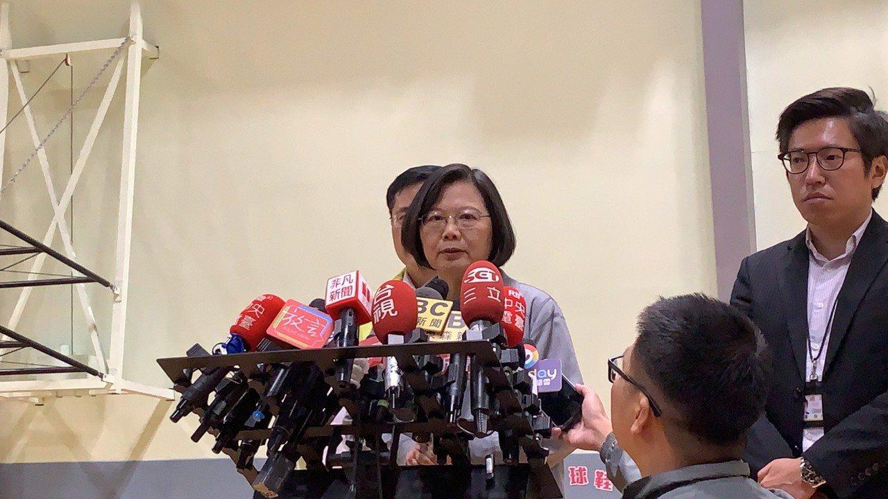 蔡英文稍早表示,有打電話希望蘇貞昌多休息一下。記者張曼蘋/攝影