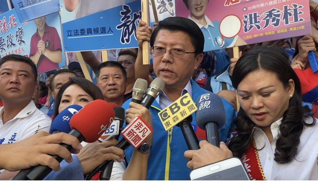 國民黨台南市黨部主委謝龍介。記者修瑞瑩/攝影