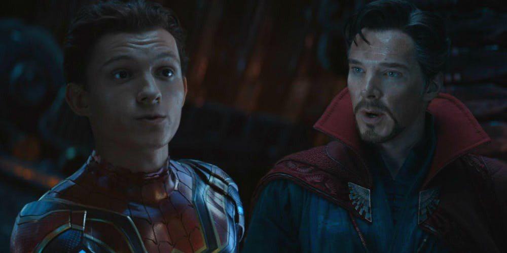 奇異博士、蜘蛛人曾在「復仇者聯盟:無限之戰」首度面會。圖/摘自推特