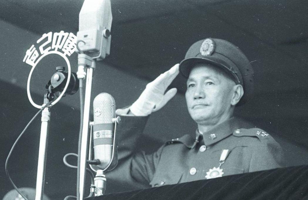 國民黨的永久總裁蔣中正。 圖/聯合報系資料照片