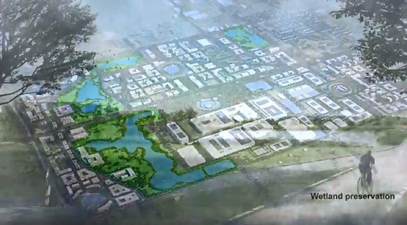 鴻海宣布美國威斯康辛州打造高科技產業園計畫邁入新的里程碑。威谷科學園區中,最大的...
