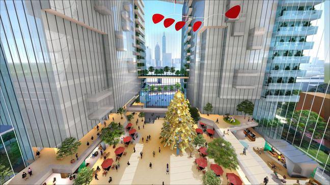 京華城未來將開發成頂級辦公大樓,勢必成為台北新地標,示意圖供參考。圖/威京集團提...