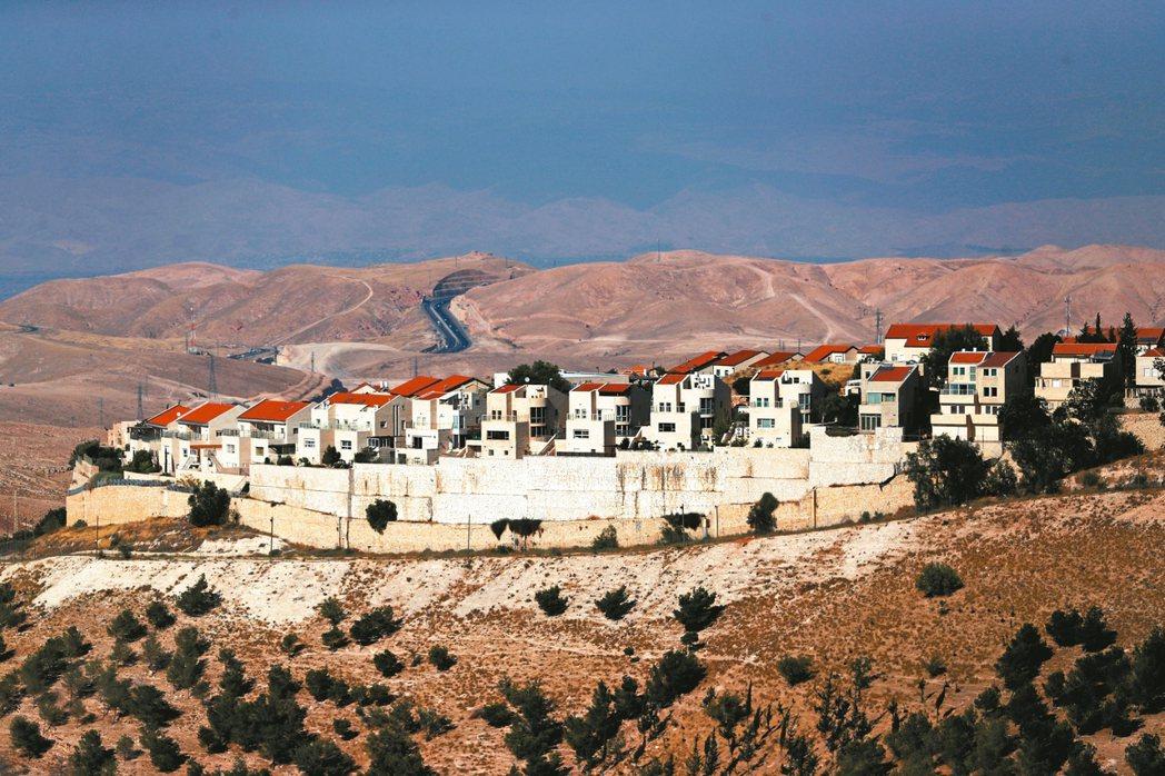 美國務卿龐培歐18日宣布,美國不再認為以色列於約旦河西岸的屯墾區(見圖)違反國際...