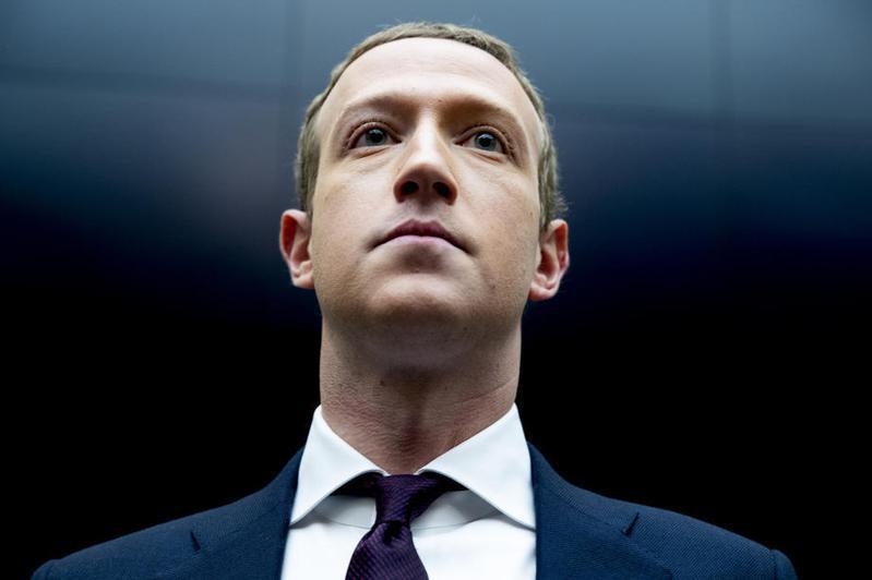 臉書創辦人兼執行長祖克柏(Mark Zuckerberg)。 歐新社