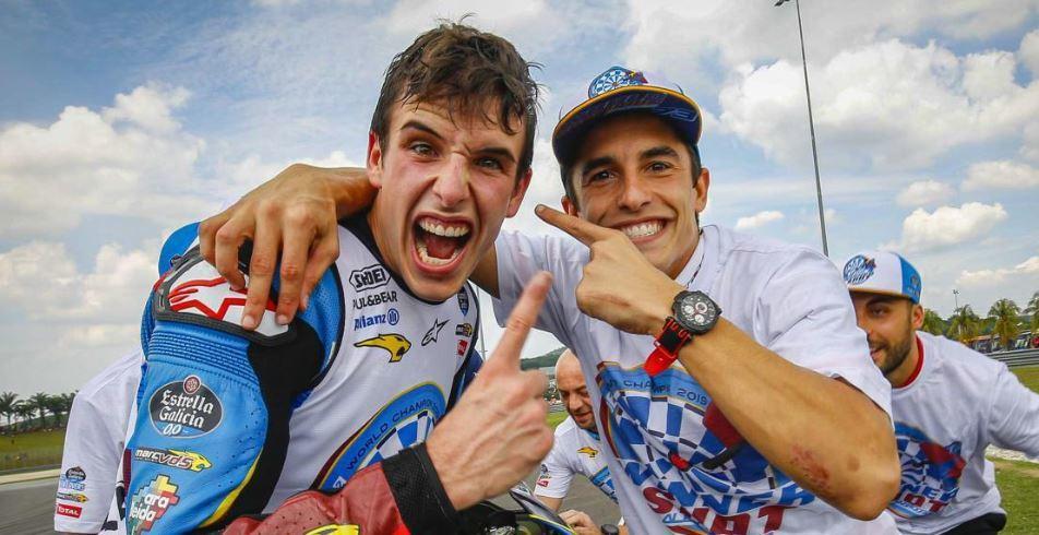 Alex Marquez(左)Marc Marquez(右)。 摘自MotoGP