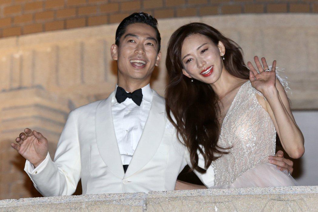 林志玲與AKIRA完成世紀婚禮,喜宴選在台南市美術館舉行。記者林伯東/攝影