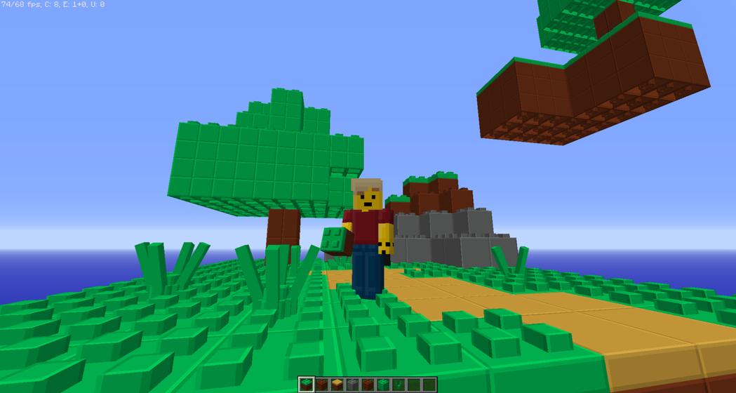 網友自製樂高積木材質包,在planetminecraft免費開放給玩家下載/圖片...