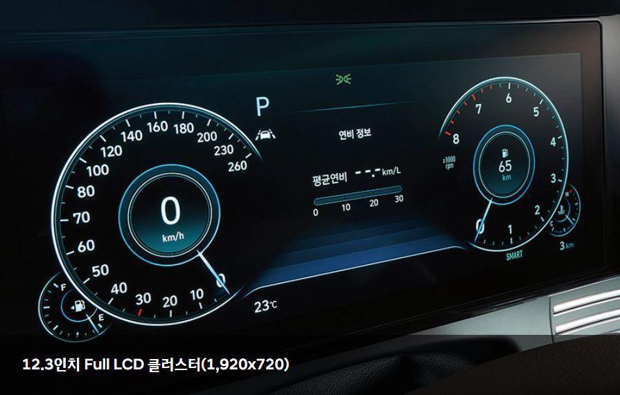 小改款Hyundai Grandeur首度擁有12.3吋數位儀表。 摘自Hyun...