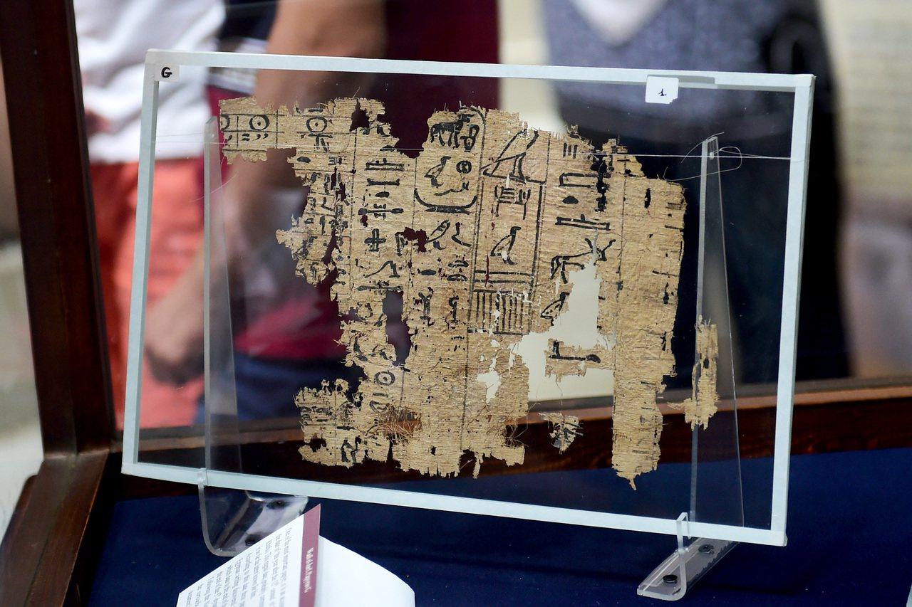 2016年7月,世界最古老紙莎草文獻首次在埃及展出的埃及國家博物館展出,此為目前...