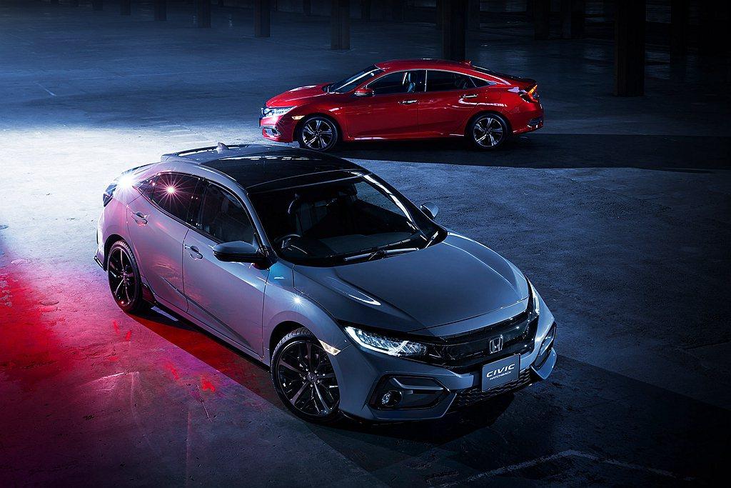 日規小改款Honda Civic車系預告發表。 圖/Honda提供