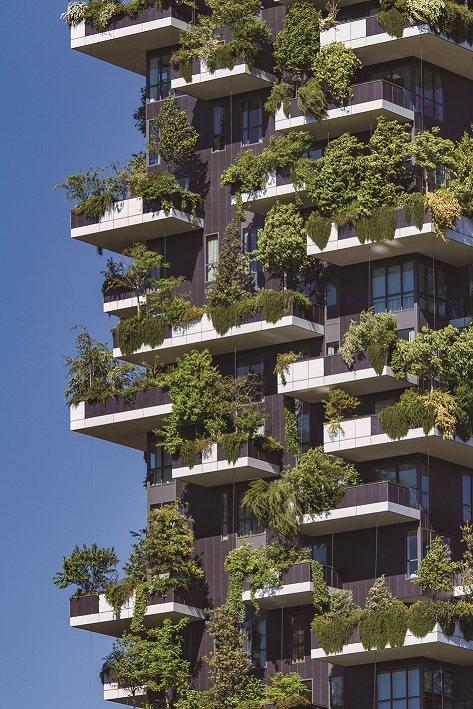 義大利米蘭的垂直森林Bosco Verticale 住宅,便是能夠有效幫城市降溫...