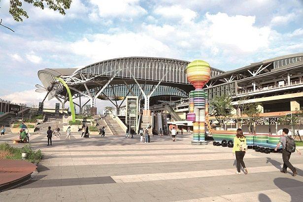 台中火車站的干城商業區周邊路平及人行道改善,規劃採用採用「管式混凝土結構」及「排...