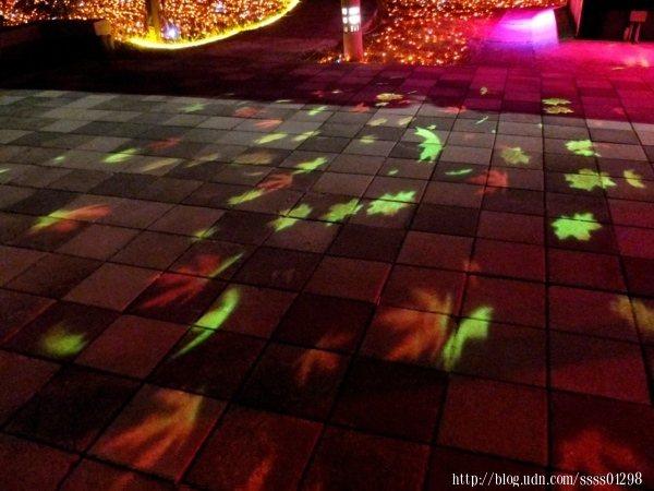 別漏看了地板上的楓葉燈光投影巧思,看起來很像紛紛飄逸落下的楓葉