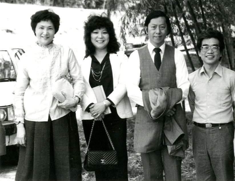 邱玉蘭(左二)、馬水龍(右二)、徐頌仁(右一)等音樂家都曾與上揚唱片長期密切合作...