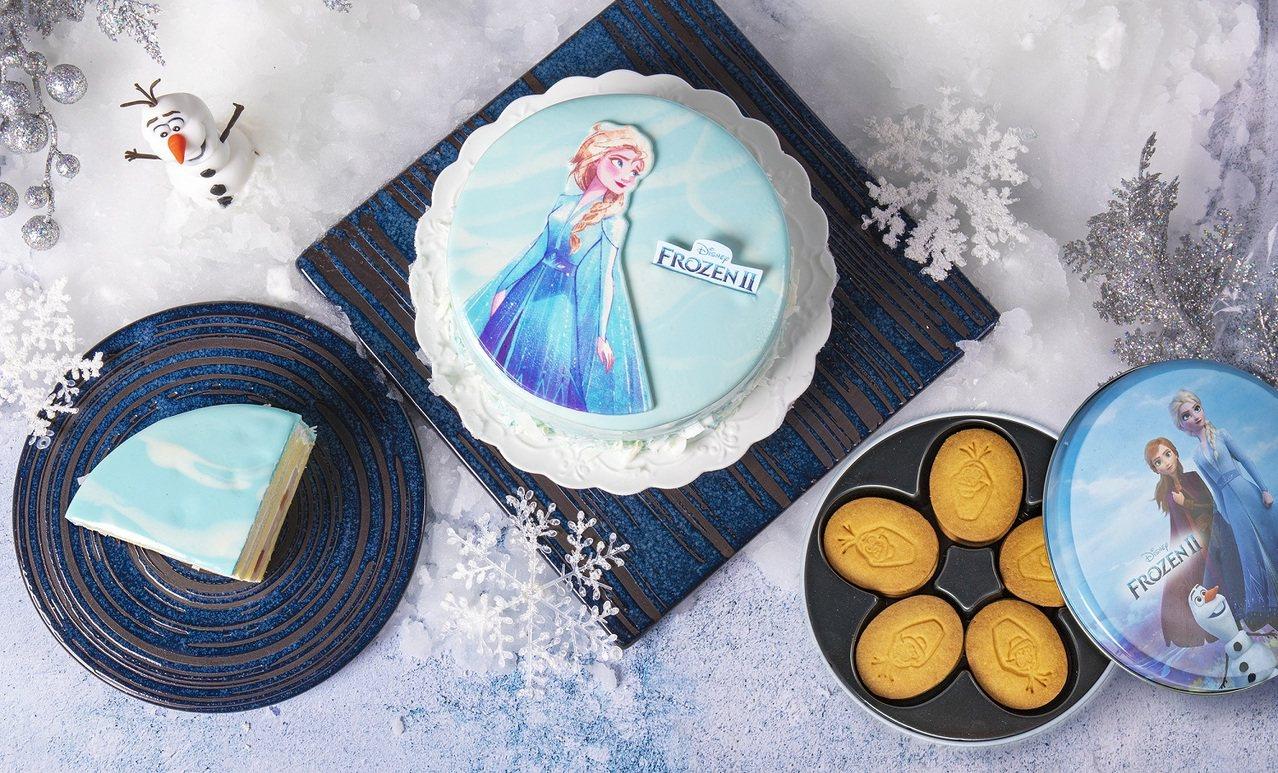 「冰雪奇緣造型雪藏蛋糕」售價1,190元。圖/BAC提供