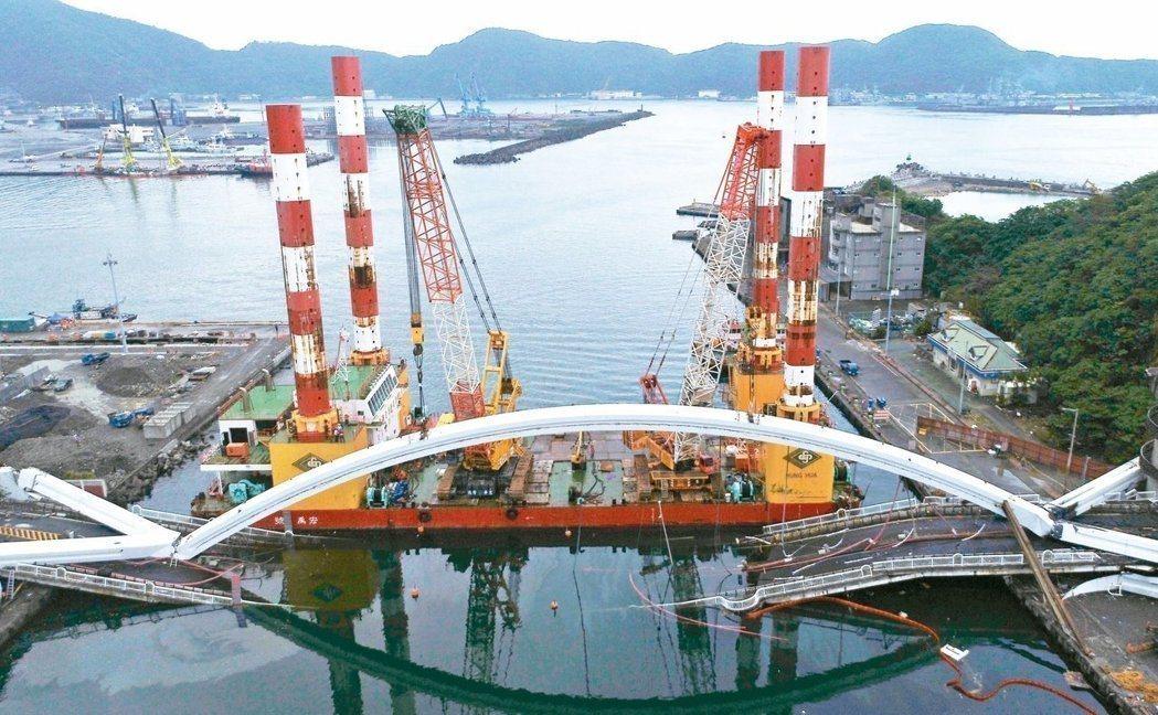 南方澳跨港大橋上月1日崩塌,造成六名外籍漁工罹難。本報資料照片