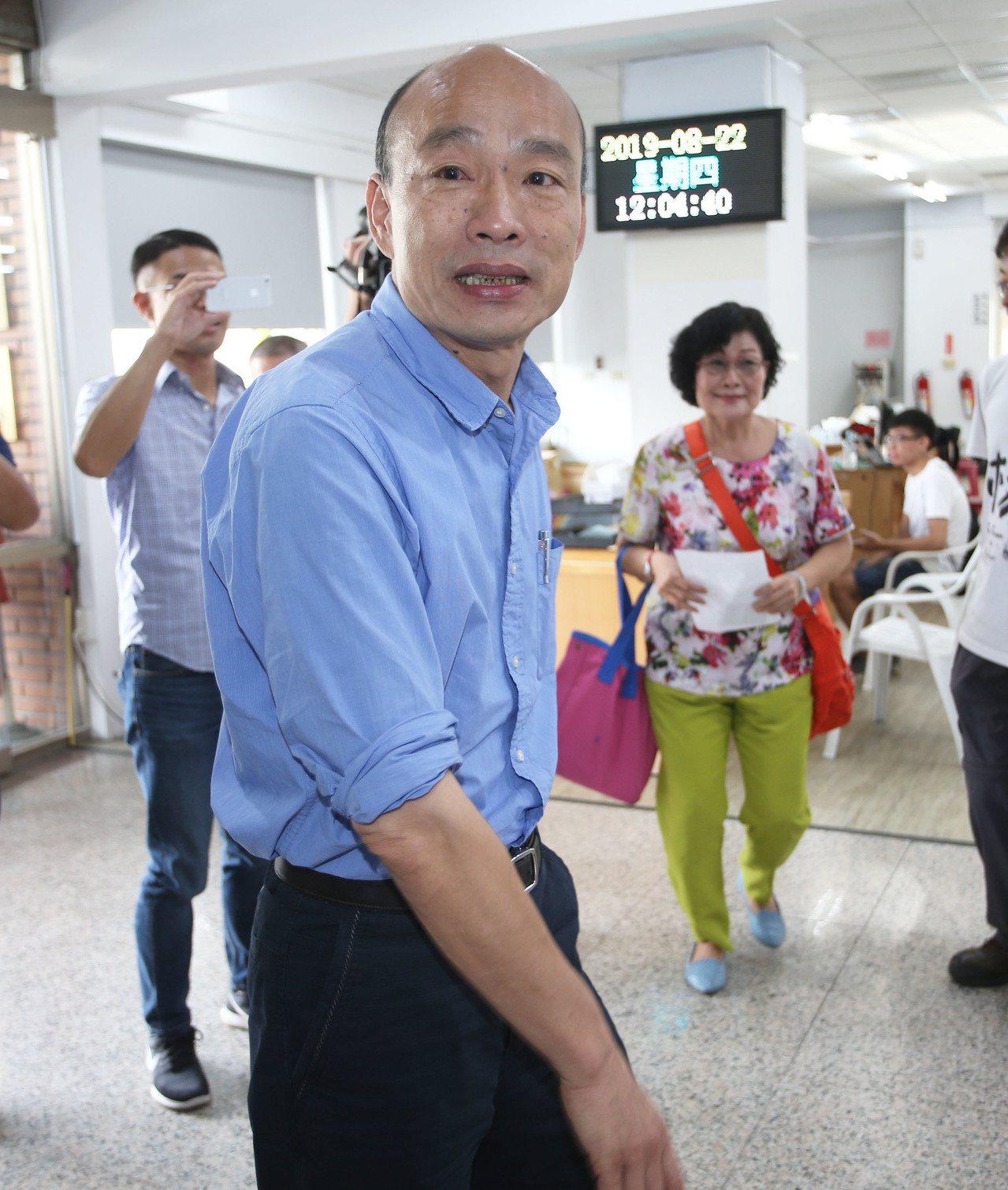 國民黨總統候選人韓國瑜。本報資料照片