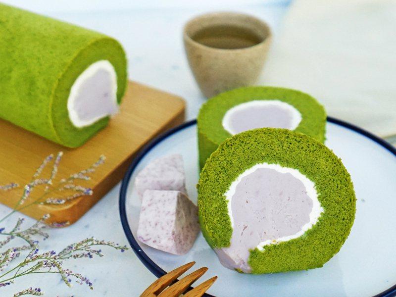 抹茶芋泥生乳捲,售價420元。圖/金帛手製提供