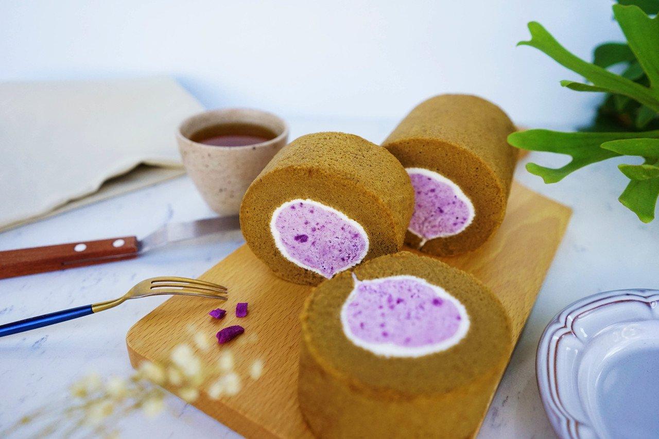 蜜香紫薯生乳捲,售價420元。圖/金帛手製提供