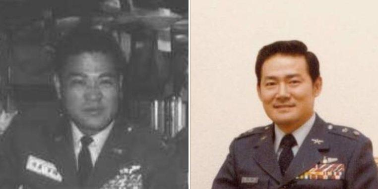 前空軍副司令葛光越在臉書貼出他與胞兄葛光遼的照片。左為36歲的葛光遼,右亦為36...