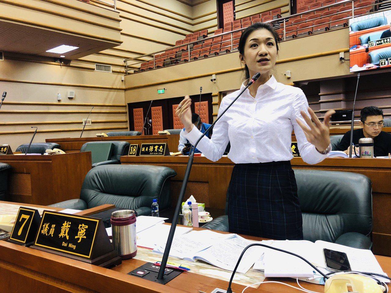 嘉義市議員戴寧曾被郭台銘勸進,但仍決定以獨立參選。本報資料照片
