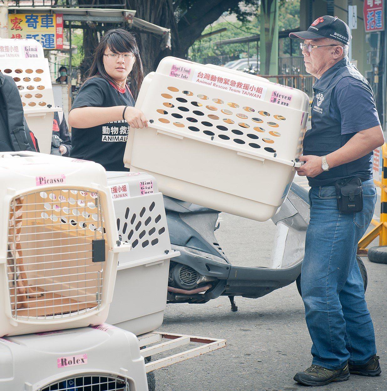 運送動物應該要用通風良好的器具。圖/台灣動物緊急救援小組提供