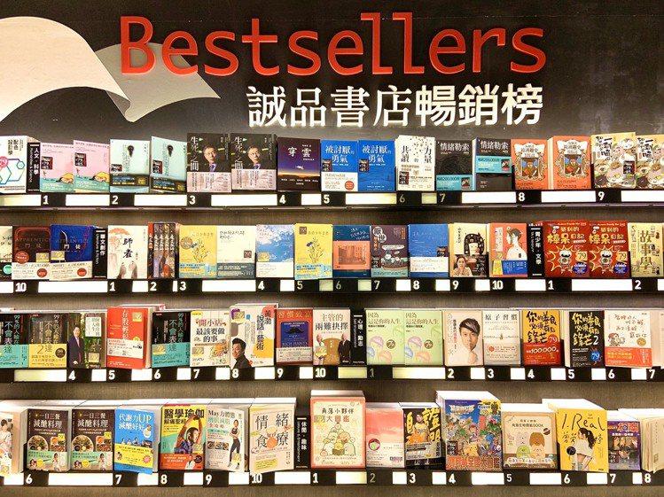 誠品書店公布2019年度Top 10十大暢銷書。圖/誠品提供