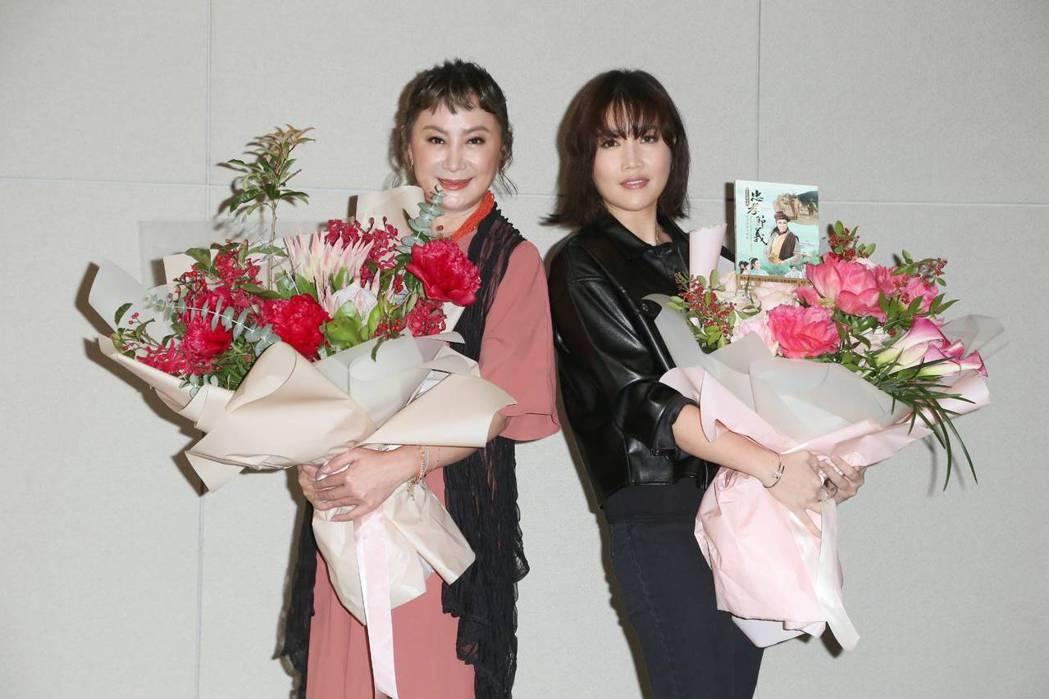 陳亞蘭(左)、A-Lin現身宣傳「忠孝節義」。記者陳立凱/攝影